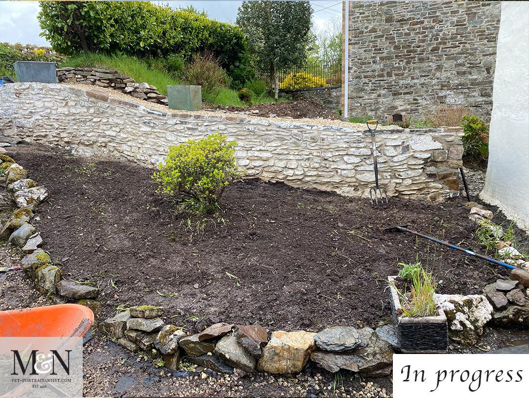 the garden being done