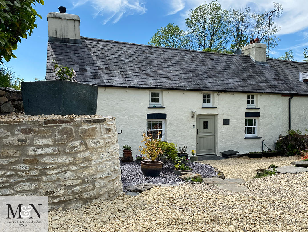 Melanie's May Monthly News - Our Cottage with new front door