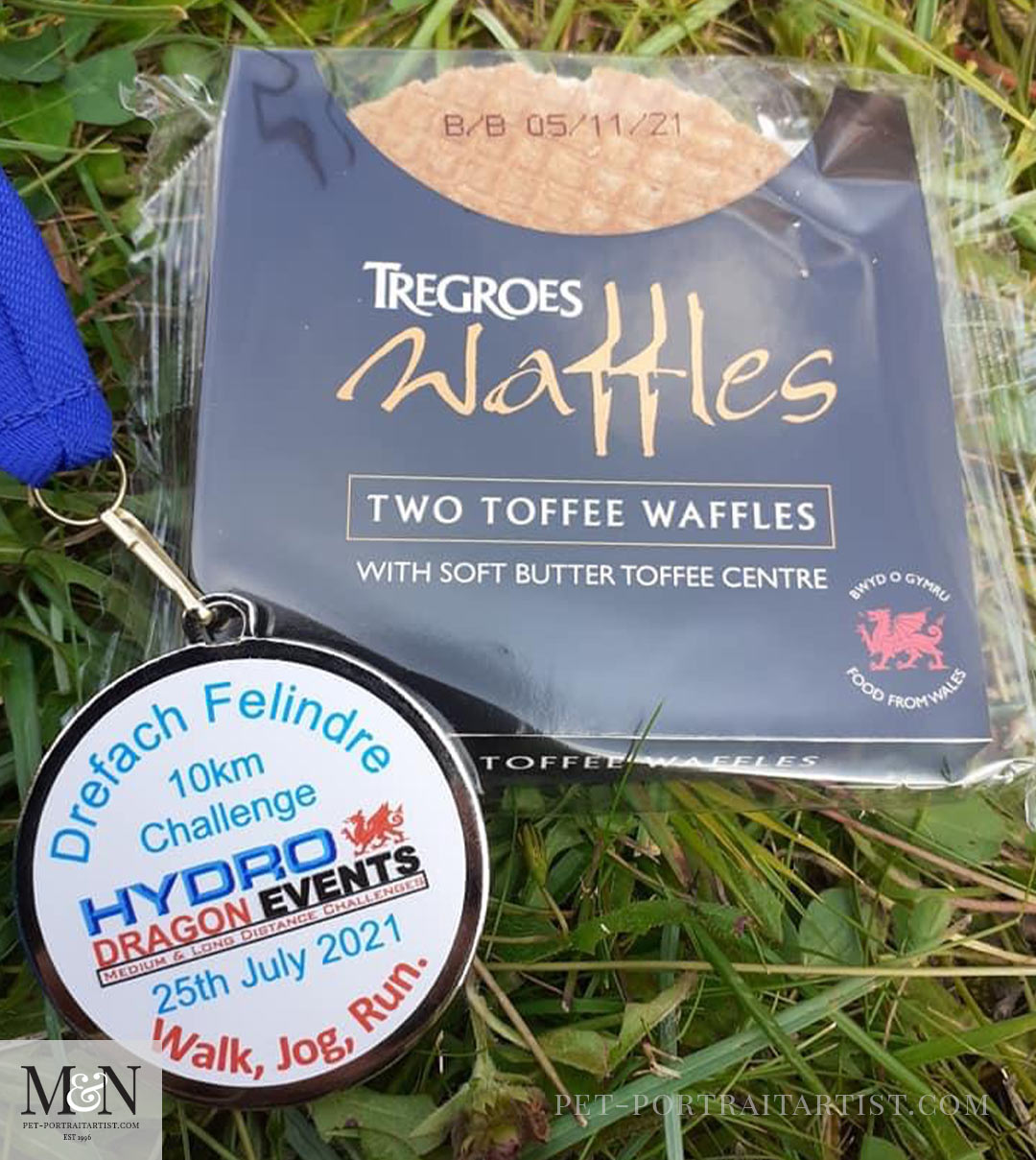 Tregroes Waffles and Medal - Melanie's July Monthly News