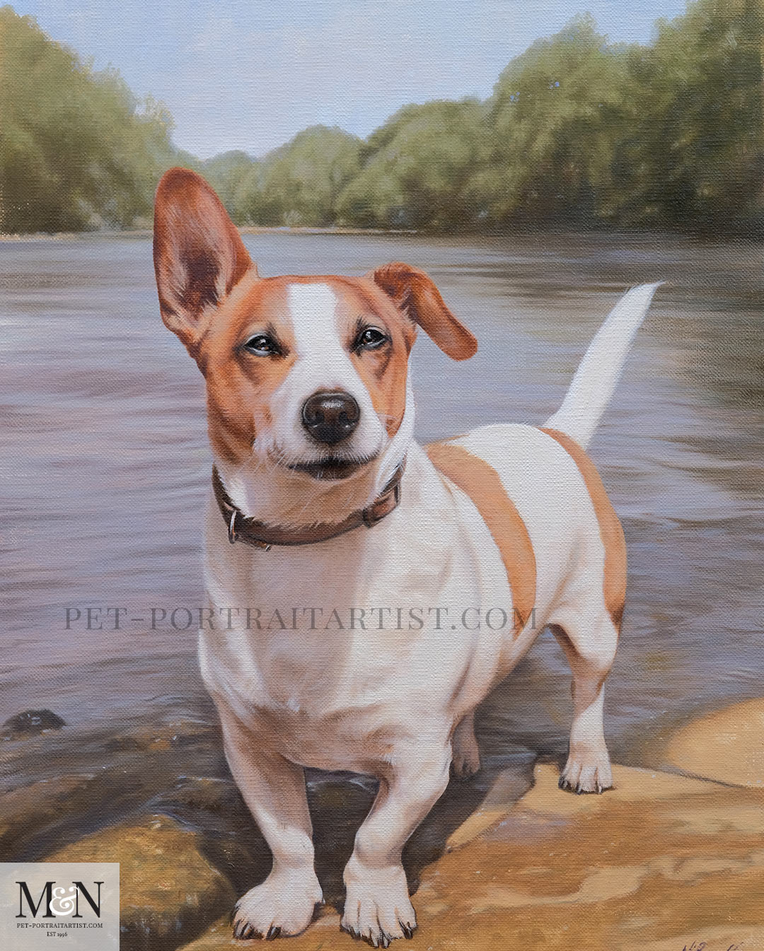 Oil Painting of Toby