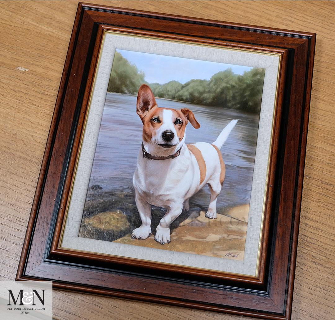 Oil Painting of Toby Framed